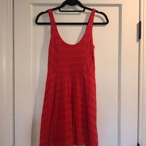 Aqua Salmon Eyelet Sundress